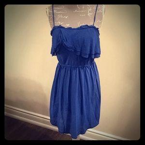 💥4/$20 Aritzia Wilfred free blue silk dress